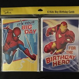 Other - NWT Ironman & Spider-Man Invitations (2 packs)